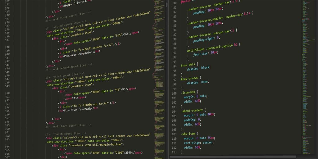 code editor html and css black screen